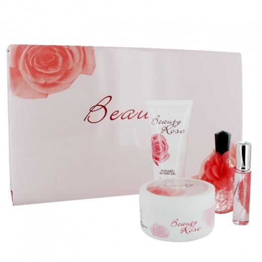 """بيوتي - طقم فاخر للسيدات """"Beauty Rose"""" من 4 حبة"""