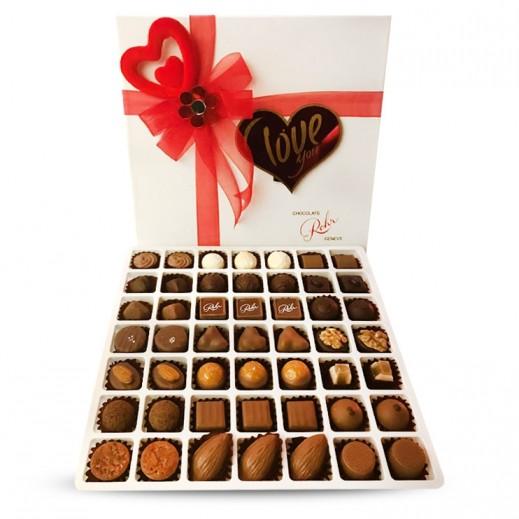 شوكولاتة رور- علبة شوكولاتة مميزة - أبيض 49 حبة  - يتم التوصيل بواسطة Chocolates Rohr Geneve