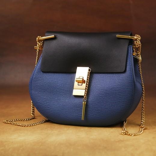 ماركو فالنتينو – حقيبة يد جلد للسيدات - أزرق/أسود