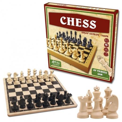 لعبة الشطرنج الخشبية الخفيفة VIP