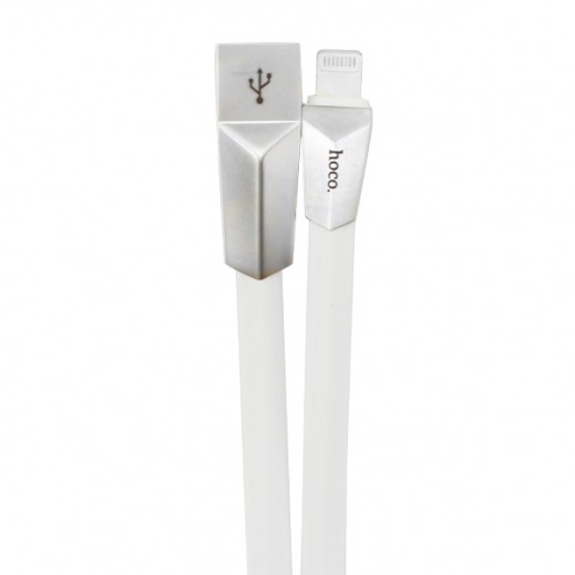 Hoco Zinc Alloy Rhombic Lightning Cable 1.2m White