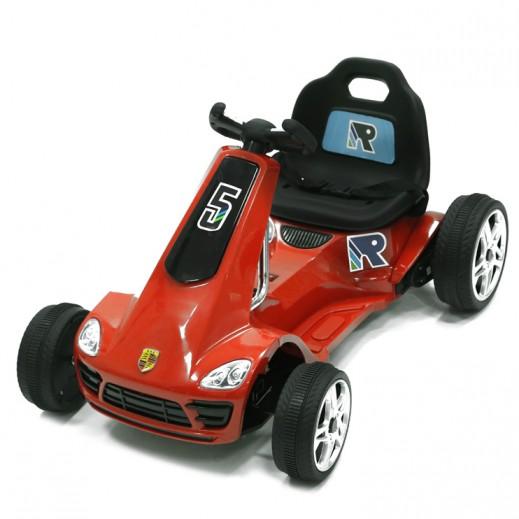 سيارة سباقات للصغار، قابلة لإعادة الشحن - أحمر - يتم التوصيل بواسطة كليك تويز خلال 2 أيام عمل
