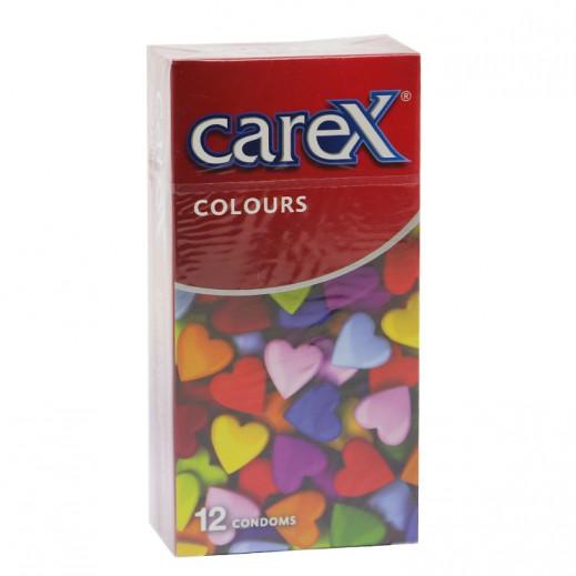 كاريكس - واقي ذكري ألوان – 12 حبة
