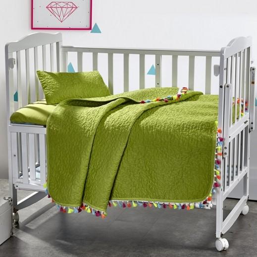 كانون - طقم غطاء سرير أخضر للأطفال 3 قطع 110×140 سم - يتم التوصيل بواسطة SFC