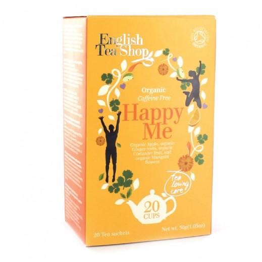 """إنجلش تي شوب – شاي """"هابي مي"""" بنكهة التفاح العضوي 20 كيس (30 جم)"""