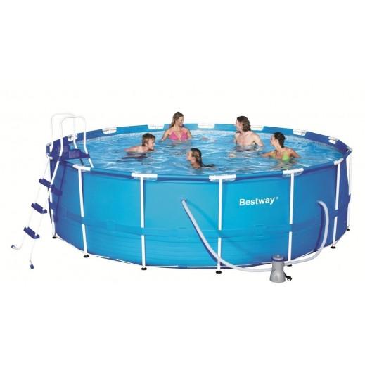 بست واي – حمام سباحة بإطار من الستيل 457 × 122 سم