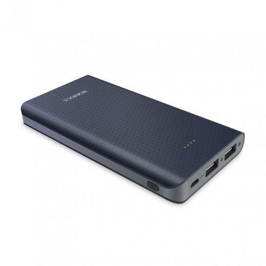 روموس – بطارية احتياطية USB ثنائية بقوة 10,000 مل أمبير لآيفون والهواتف الذكية – أسود