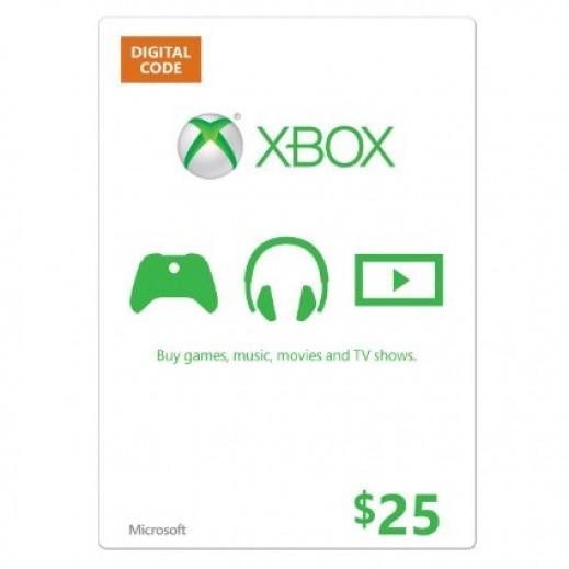 بطاقة XBOX  بقيمة 25 دولار للحسابات الأمريكية فقط –  إستلم فورا على بريدك الإلكتروني