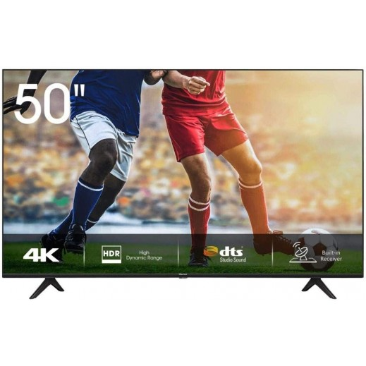 هايسنس – تلفزيون UHD LED قياس 50 بوصة – أسود - يتم التوصيل بواسطة AL ANDALUS بعد 3ايام عمل