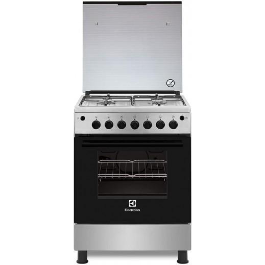 الكترولكس - طباخ غاز 60X60 - فضى - يتم التوصيل بواسطة Jashanmal في خلال 3 أيام