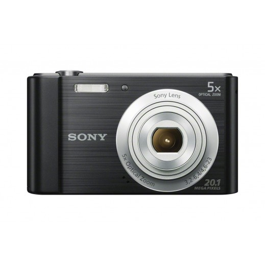 سوني - كاميرا رقمية سيبرشوت بدقة 20.1 ميجابكسل - اسود - يتم التوصيل بواسطة Digital World Exh