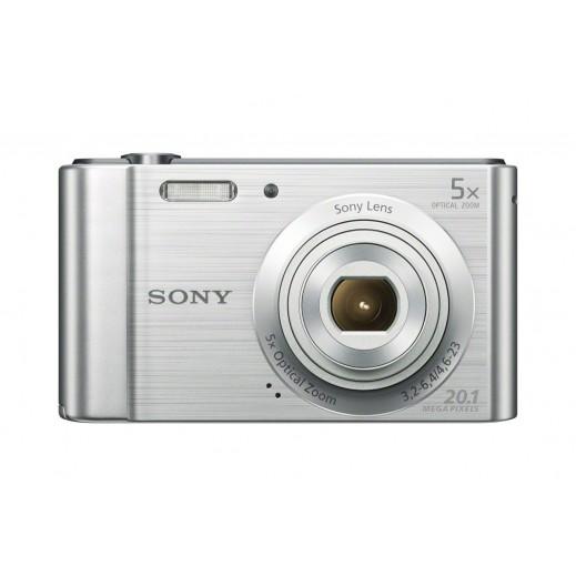 سوني - كاميرا رقمية سيبرشوت بدقة 20.1 ميجابكسل - فضي - يتم التوصيل بواسطة Digital World Exh