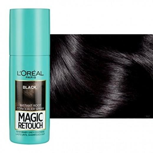 لوريال – صبغة شعر رتوش غير دائمة بخاخة لون أسود