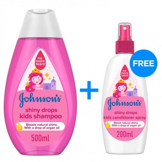 جونسون - شامبو القطرات اللامعة للصغار 500 مل + 200 مل بلسم بخاخ مجاناً