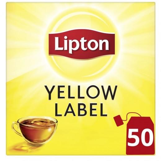 ليبتون - شاي أسود العلامة الصفراء 50 كيس