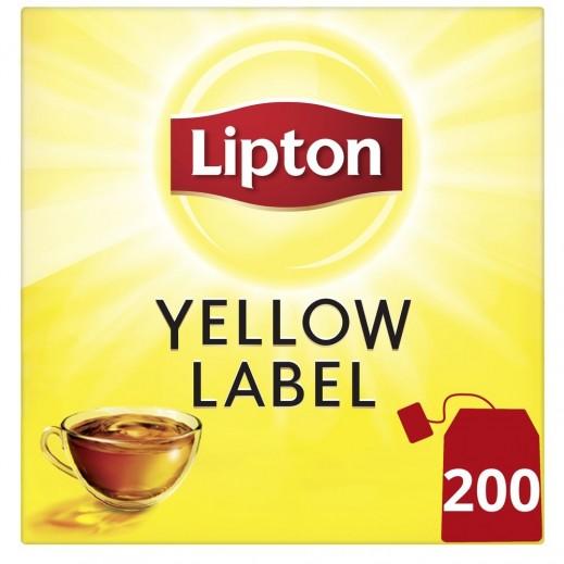 ليبتون - شاي أسود العلامة الصفراء 200 كيس