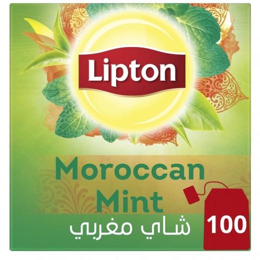 ليبتون - شاي أخضر مغربي بالنعناع 100 كيس