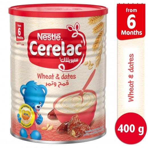 سيريلاك – طعام الأطفال بالقمح وقطع التمر (من عمر 6 أشهر) 400 جم