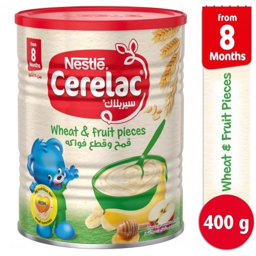 """سيريلاك – طعام الأطفال بالقمح وقطع الفواكه """" المرحلة الثالثة """" 400 جم"""