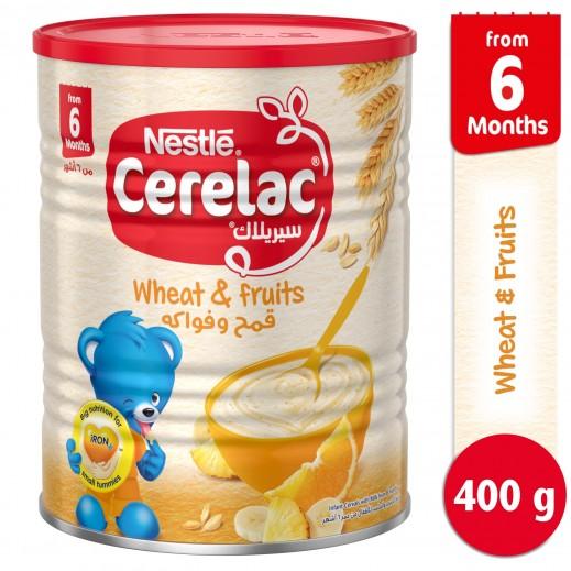 """سيريلاك – طعام الأطفال بالقمح والفواكة """" المرحلة الثانية """" 400 جم"""