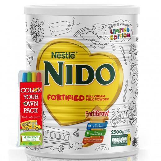 نيدو – حليب  مُجفف سريع الذوبان 2.5 كجم + (طقم أقلام مجانا)