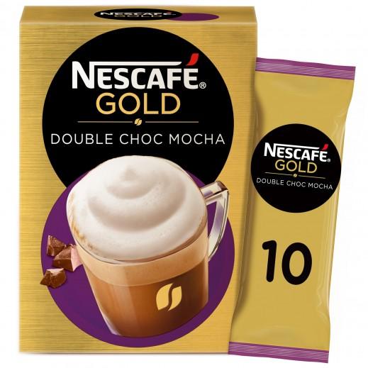 نسكافية - كابتشينو جولد دبل شوكولاته موكا بدون نكهات اصطناعية 10 × 23 جم