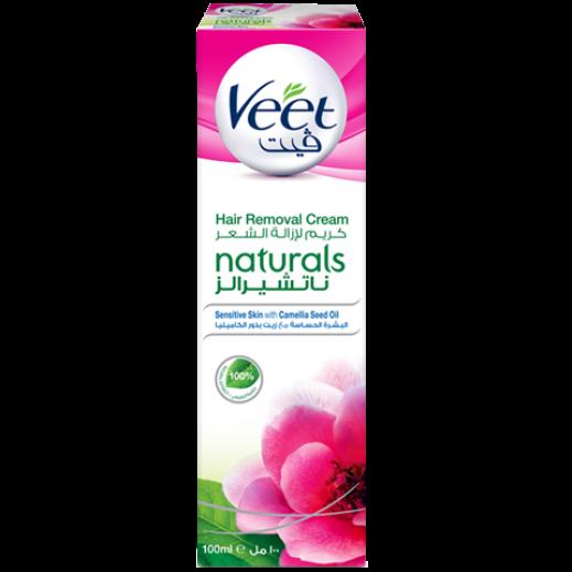 ﭬيت – كريم لإزالة الشعر للبشرة الحساسة بزيوت بذور الكاميليا – 100 جم