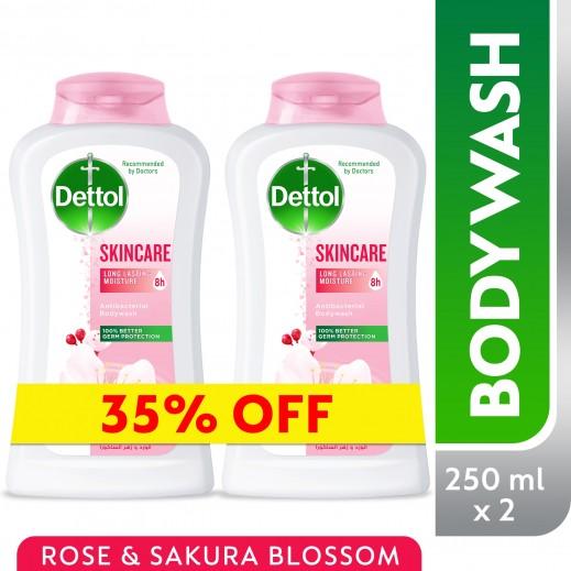 ديتول – غسول الجسم للعناية بالبشرة والحماية من الجراثيم - 2 × 250 مل