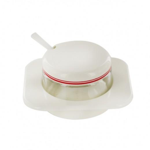 فاليرا - وعاء زجاجي بغطاء لحفظ السكر