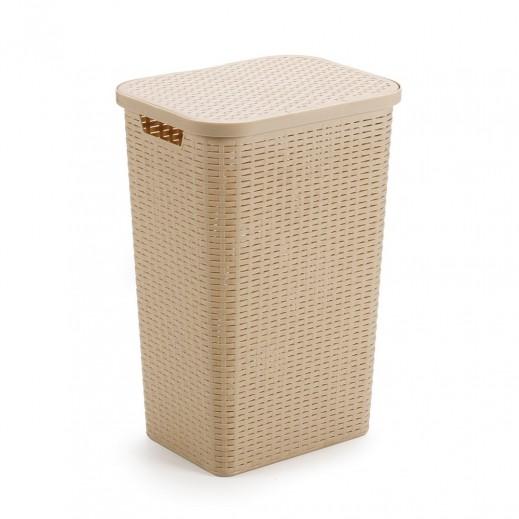 بروجاردن  - سلة غسيل مع غطاء – بيج