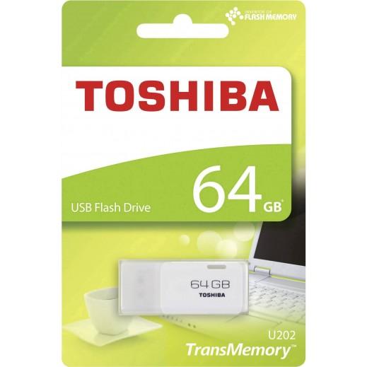 توشيبا - فلاش درايف سعة 64 جيجابايت بمدخل USB - ابيض