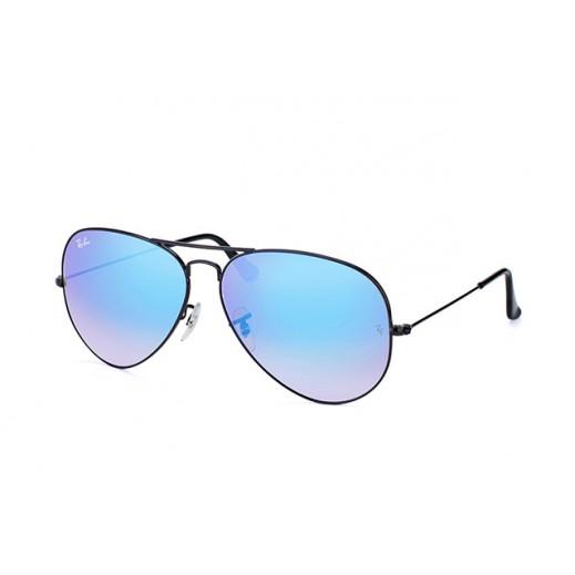"""راي بان – نظارة شمسية """"أفياتور"""" لكلا الجنسين موديلRBN 3025 002 4O  أسود/ أزرق مقاس 62 ملم"""
