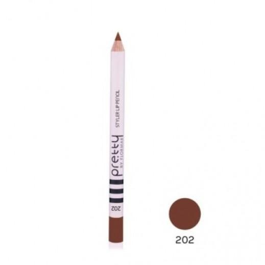 بريتي باي فلورمار - قلم تحديد الشفاه ستايلر Light Nougat 202