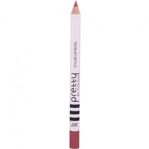 بريتي باي فلورمار - قلم تحديد الشفاه ستايلر Deep Rose 207
