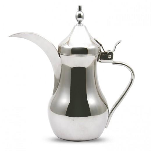 """إيه إس سي – دلة القهوة العربية ستانلس ستيل 1.35 لتر """" فضي"""""""
