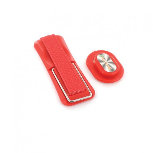 مقبض ذكي ومثبت في السيارة 3 في 1 للهاتف النقال لون احمر
