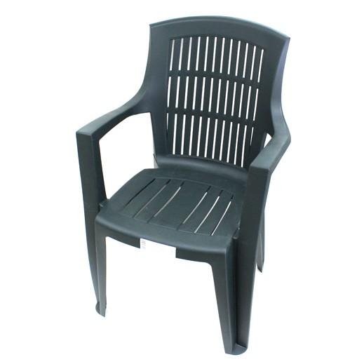 بروجاردن – كرسي بلاستيك  بمسند للذراع – أخضر