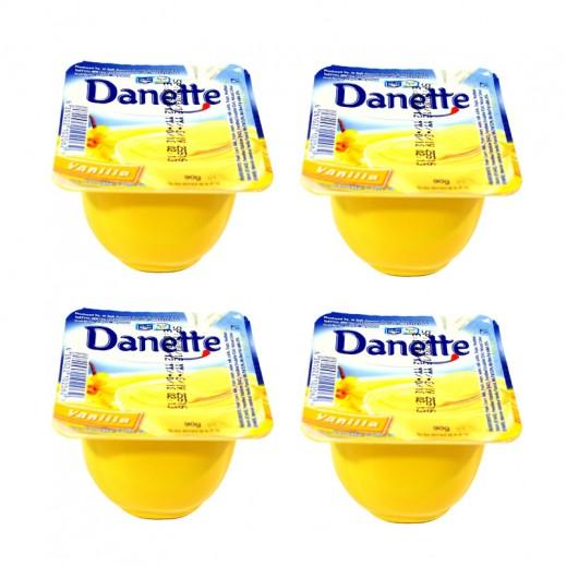دانيت – حلوى بودنج بطعم الفانيليا 90 جم × 4 حبة
