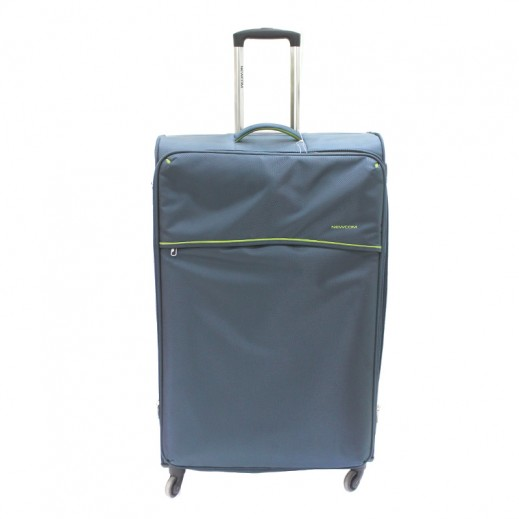 """نيوكوم – حقيبة سفر """" Soft Spinner"""" ترولي حجم كبير – أخضر"""