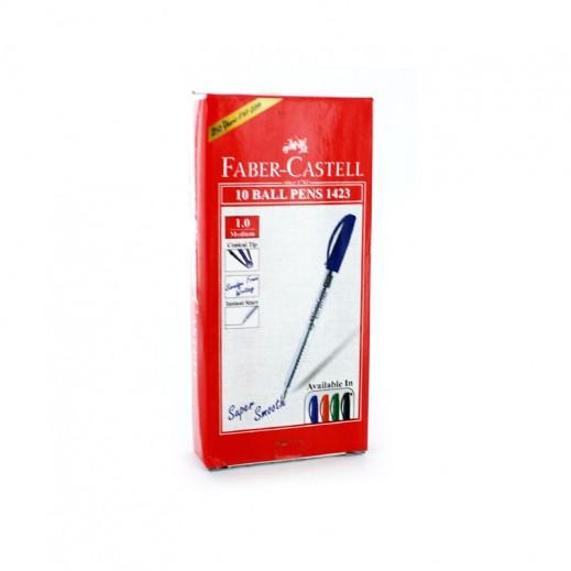 فابر كاستل – قلم الحبر الجاف بسن 1 مم – أحمر (10 أقلام)