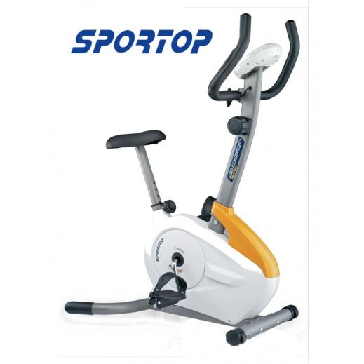 سبورتوب – دراجة التمارين الرياضية المغناطيسية العمودية – أبيض وأصفر - يتم التوصيل بواسطة النصر الرياضي خلال 3 أيام عمل