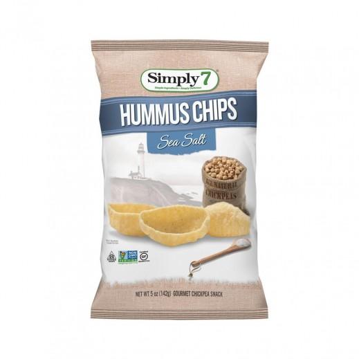 سيمبلي 7 – رقائق شيبس بالحمص ونكهة أملاح البحر خالية من الجلوتين 142 جم