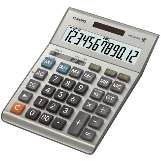 كاسيو – آلة حاسبة رقمية تعمل بالطاقة المزدوجة وتحسب الضرائب (Dm-1600b 16-digit)