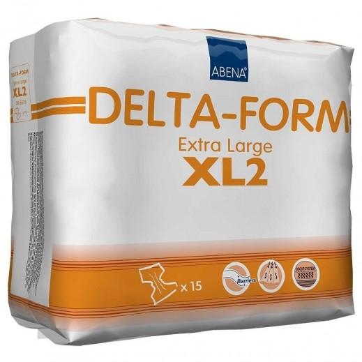 أبنا – حفاضات دلتا فورم الصحية لكبار السن مقاس XL - عدد 15 حبة - يتم التوصيل بواسطة Al Essa Company