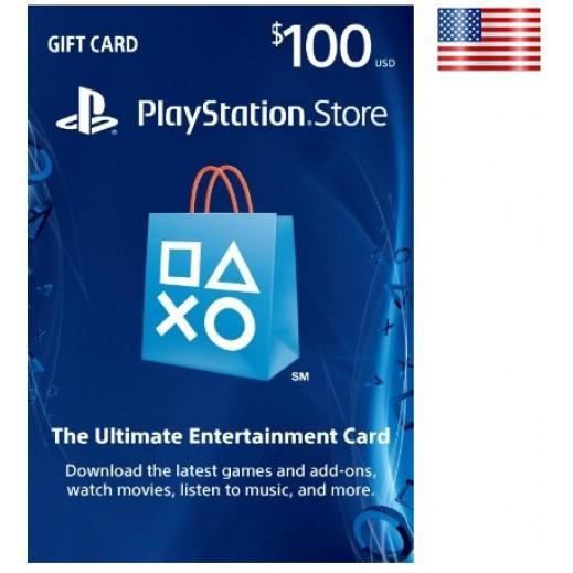 بطاقة شبكة سوني بلايستيشن بقيمة 100 دولار (الألعاب الأونلاين) للحسابات الأمريكية فقط –  إستلم فورا على بريدك الإلكتروني