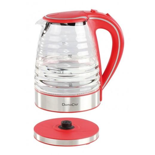 دومو كليب – غلاية مياة كهربائية زجاجية 1.7 لتر