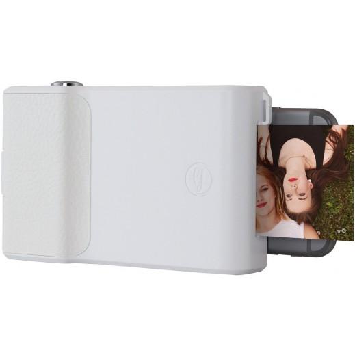 برنت – طابعة لهواتف الايفون – ابيض (اجعل صورك نابضة بالحياة، فيديو مخفي داخل الصورة المطبوعة)