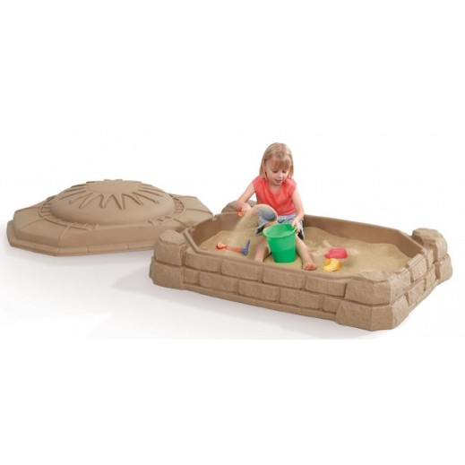 ستيب 2 – صندوق الرمال الطبيعية للأطفال – بني - يتم التوصيل بواسطة Shahaleel
