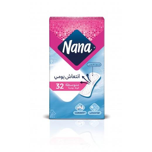 نانا – فوط صحية يومية حجم عادي 32  حبة