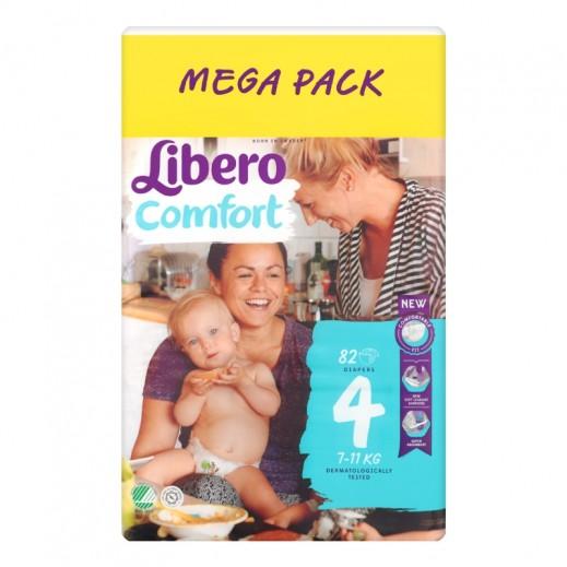 ليبرو – حفاضات أطفال كومفرت فيت المرحلة 4 (7 - 11 كجم) 82 حبة